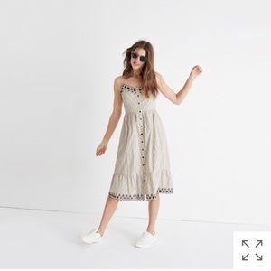 NEW • Madewell • Embroidered Jardin Midi Dress 6